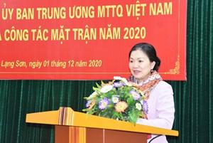 UBTƯ MTTQ Việt Nam kiểm tra công tác Mặt trận tại Lạng Sơn