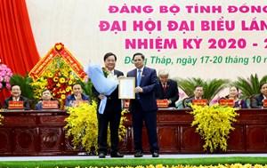 Công bố quyết định nhân sự tại Đại hội Đảng bộ tỉnh Đồng Tháp