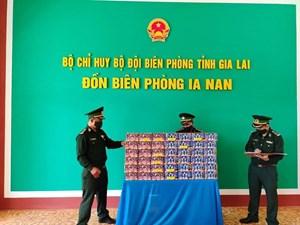Gia Lai: Phát hiện đối tượng vận chuyển hơn 60kg pháo lậu