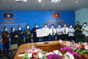 Tỉnh Khăm Muộn - Lào hỗ trợ Hà Tĩnh phòng chống dịch Covid-19