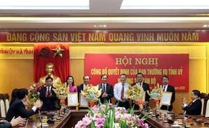 Hà Tĩnh thay đổi nhân sự đối với 5 chức danh cán bộ cấp tỉnh
