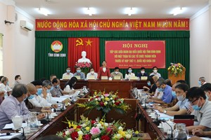 Bình Định: Hội nghị tiếp xúc cử tri trước kỳ họp thứ 11