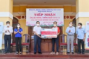 Bình Thuận: Tiếp nhận máy móc và thiết bị phòng chống dịch Covid-19