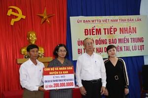 Đắk Lắk:  1,2 tỷ đồng ủng hộ đồng bào miền Trung