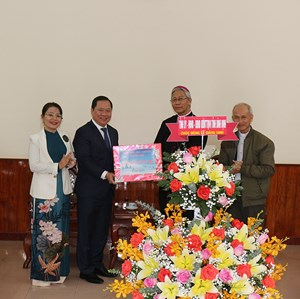 Lãnh đạo tỉnh Bình Định, thăm các tổ chức tôn giáo, các chức sắc tiêu biểu
