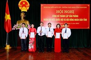 Nam Định: Hợp nhất Văn phòng Đoàn đại biểu Quốc hội và HĐND tỉnh sau chia tách