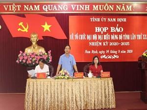 Nam Định: 'Không có sự yêu ghét, khuất tất trong chuẩn bị nhân sự đại hội'