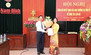 Báo Nam Định lần đầu có nữ Tổng biên tập