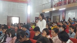 Nam Định: Công nhân đối thoại với Chủ tịch tỉnh