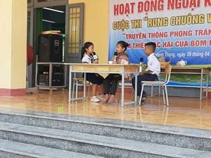 Quảng Ngãi: Tăng cường truyền thông về tác hại của bom mìn trong cộng đồng dân cư