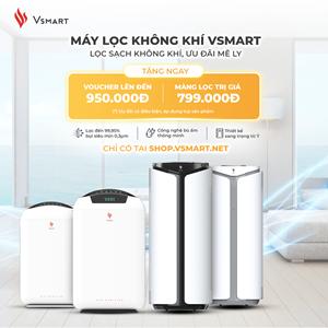 Vinsmart mở bán máy lọc không khí và giải pháp thông minh độc quyền trên Vsmart online