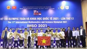 Việt Nam giành 2 Huy chương Vàng Olympic Toán và Khoa học quốc tế