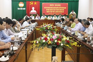 Đoàn ĐBQH tỉnh Bình Định tiếp xúc với Mặt trận và các tổ chức thành viên