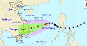 Bão kết hợp với không khí lạnh sẽ gây mưa to tại miền Trung