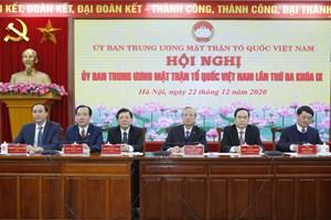 Khai mạc Hội nghị UBTƯ MTTQ Việt Nam lần thứ ba, khóa IX