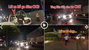 [VIDEO] Tài xế 'điên cuồng' rồ ga đâm CSCĐ rồi xuống xe bỏ chạy