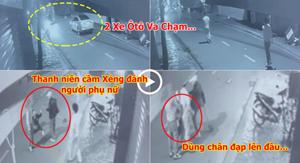 [VIDEO] - Va chạm giao thông, nam thanh niên cầm xẻng đánh, đạp lên đầu người phụ nữ