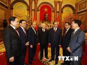 Tổng Bí thư, Chủ tịch nước chúc Tết các lãnh đạo và nguyên lãnh đạo