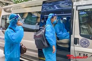[ẢNH] Hà Nội đón gần 300 công dân từ Bắc Giang trở về