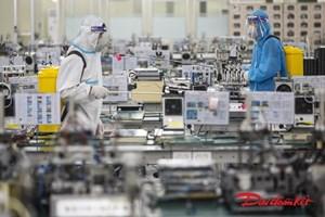 Hình ảnh về sự chuẩn bị khôi phục sản xuất tại KCN Quang Châu, Bắc Giang