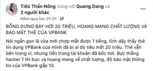 Khách hàng 'tố' thẻ tín dụng của ngân hàng VPBank bảo mật kém