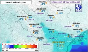 Nâng mức độ cảnh báo: Nền nhiệt giảm đột ngột, vùng núi cao có nơi 0 độ C