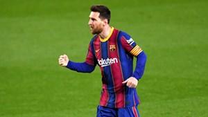 Messi cân bằng kỷ lục 'Cầu thủ ra sân nhiều nhất cho Barca' của Xavi