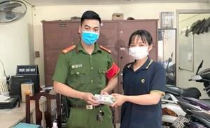 Nữ sinh viên tốt bụng giao gần 200 triệu đồng nhặt được cho công an