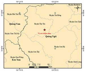 Quảng Nam: Xảy ra liên tiếp 4 trận động đất trong vòng 5 giờ đồng hồ