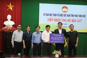 Trên 25 tỷ ủng hộ đồng bào lụt bão Thừa Thiên-Huế