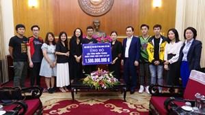 Tiếp thêm nguồn lực ủng hộ đồng bào miền Trung