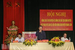 Thanh Liêm (Hà Nam): Lãnh đạo huyện đối thoại với nông dân
