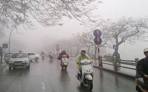 Không khí lạnh tăng cường, gây mưa ở Bắc Bộ