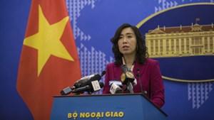 Việt Nam yêu cầu các nước liên quan tôn trọng chủ quyền