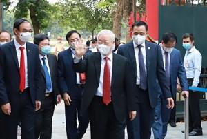 Tổng Bí thư Nguyễn Phú Trọng: 'Tôi tin chắc rằng, cuộc bầu cử lần này sẽ thành công tốt đẹp'