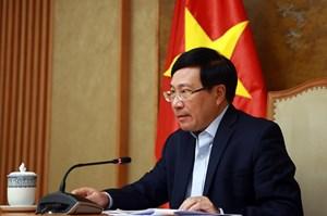 Phó Thủ tướng Phạm Bình Minh điện đàm với Cố vấn an ninh quốc gia Hoa Kỳ