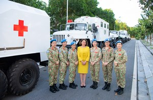 Nữ Đại sứ Australia đánh giá cao vai trò của nữ quân nhân Cục Gìn giữ Hòa bình Việt Nam