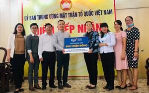 MTTQViệt Namtiếp nhận 500 triệu đồng ủng hộ đồng bào miền Trung