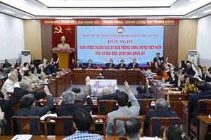 UBTƯ MTTQ Việt Nam giới thiệu 4 người ứng cử đại biểu Quốc hội khóa XV