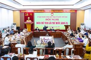 Giới thiệu ông Lê Tiến Châu giữ chức Phó Chủ tịch - Tổng Thư ký UBTƯ MTTQ Việt Nam
