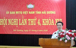 Ông Nguyễn Đức Tuấn là Chủ tịch UBMTTQ tỉnh Hải Dương