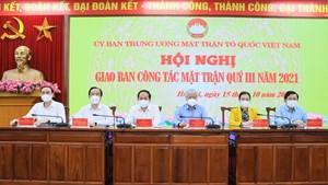 UBTƯ MTTQ Việt Nam giao ban công tác Mặt trận quý III năm 2021