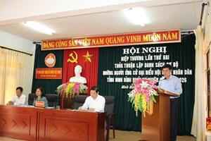 Ninh Bình: Lập danh sách sơ bộ 10 người ứng cử đại biểu Quốc hội