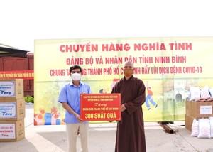 Ninh Bình: Gần 12.000 phần quà hỗ trợ người dân TP Hồ Chí Minh vượt qua khó khăn