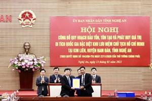 Công bố Quyết định bảo tồn, tôn tạo Khu lưu niệm Chủ tịch Hồ Chí Minh
