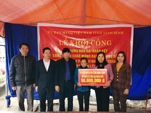 Yên Mô (Ninh Bình): Xây 77 nhà Đại đoàn kết cho hộ nghèo