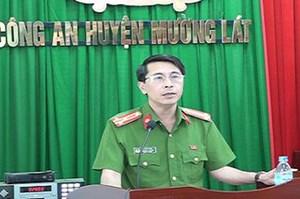 Thanh Hóa: Cách hết chức vụ nguyên Trưởng Công an huyện Mường Lát