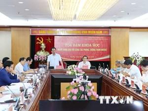 Đề cao trách nhiệm của người đứng đầu trong phòng, chống tham nhũng