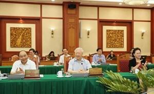 Bộ Chính trị tiếp tục làm việc với các đảng bộ trực thuộc Trung ương