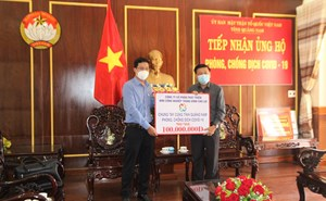 Mặt trận Quảng Nam tiếp nhận ủng hộ phòng, chống dịch Covid-19